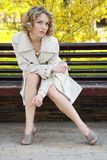Beautiful girl in coat Royalty Free Stock Images