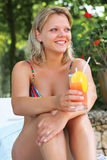 Beautiful girl with coctail Stock Photos