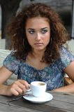 Beautiful girl with coffee Stock Image