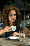 Beautiful girl with coffee Royalty Free Stock Photos