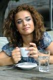 Beautiful girl with coffee Stock Photo