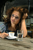 Beautiful girl with coffee Stock Photography