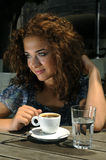 Beautiful girl with coffee Royalty Free Stock Images