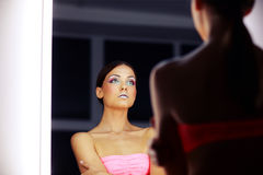 Beautiful girl with colorful makeup Royalty Free Stock Photo