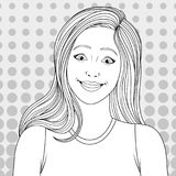 Beautiful girl coloring pages Royalty Free Stock Photos