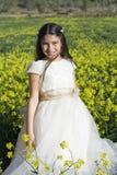 Beautiful girl with communion dress Stock Photo