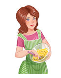 Beautiful girl cooking food Royalty Free Stock Photography