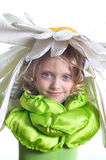 Beautiful girl in a costume Royalty Free Stock Image
