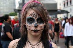 Beautiful girl in costumes in Zombie Walk Sao Paulo Stock Image