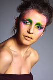 The beautiful girl with a creative make-up Royalty Free Stock Images