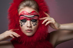 Beautiful girl with creative make-up Stock Photo