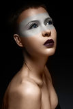 Beautiful girl with a creative makeup. beauty face. Photo was made in studio Royalty Free Stock Photos