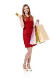 Beautiful girl with a credit card Royalty Free Stock Photo