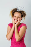 Beautiful girl in crown stock images