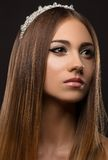 Beautiful girl with a crown on his head Royalty Free Stock Photography