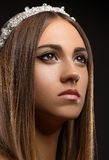 Beautiful girl with a crown Stock Photography