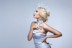 Beautiful girl with crown royalty free stock photos