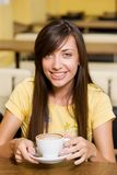 Beautiful girl with cup of coffee Stock Photography