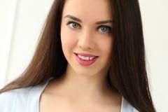 Beautiful girl with cute face Stock Photos