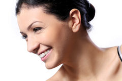 Beautiful girl with cute smile and perfect skin Royalty Free Stock Photos