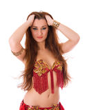 Beautiful girl dancer of belly dance Stock Image