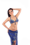 The beautiful girl dancer of belly dance,east costume Royalty Free Stock Image