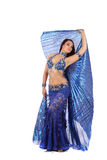 The beautiful girl dancer of belly dance,east costume Royalty Free Stock Photos