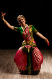 Beautiful girl dancer of Indian classical dance Bharatanatyam Royalty Free Stock Photography