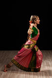 Beautiful girl dancer of Indian classical dance Bharatanatyam Royalty Free Stock Photos