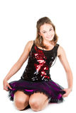 Beautiful girl dancer sitting on the floor Stock Photography