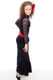 Beautiful girl dances flamenco Royalty Free Stock Photos