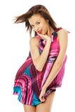 Beautiful girl dancing Stock Photos