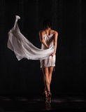 Beautiful girl dancing. ballerina Stock Images