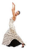 Beautiful girl dancing flamenco Royalty Free Stock Photography