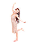 Beautiful girl dancing, full length Royalty Free Stock Photography