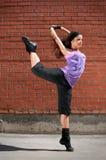Beautiful girl dancing hip-hop Royalty Free Stock Image