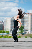 Beautiful girl dancing hip-hop Royalty Free Stock Image