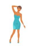 Beautiful girl dancing isolated Stock Image
