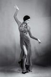 Beautiful girl dancing Stock Images