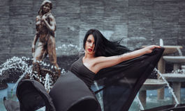 Beautiful girl dancing Royalty Free Stock Photography