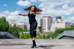 Beautiful girl dancing modern style Royalty Free Stock Photography