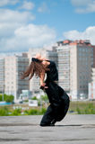 Beautiful girl dancing modern style Royalty Free Stock Images