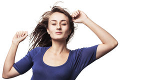 Beautiful girl dancing Stock Photography