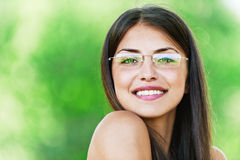 Beautiful girl dark closeups short Stock Images