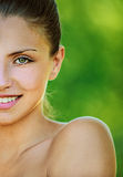 Beautiful girl dark closeups short Royalty Free Stock Image