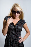The beautiful girl in dark glasses Stock Image