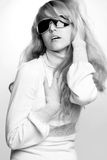 Beautiful girl with dark sunglasses Stock Image
