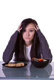 Beautiful Girl Deciding What to Eat Stock Photography