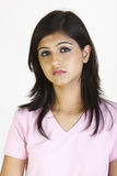 Beautiful girl in depressed mood Stock Images