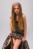 Beautiful girl with diadem Stock Photography